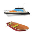 boat and raft flat icon vector image