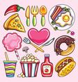 cartoon of foods vector image