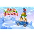 Christmas family trip vector image