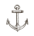 Hand drawn sketch anchor vector image