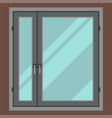 house window element flat style frame construction vector image
