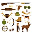 Shooting And Hunting Set vector image