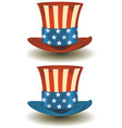 uncle sams top hat for american holidays vector image