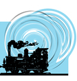 Abstract Train vector image