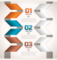 Twisted paper ribbons edging text fields vector image