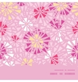 pink abstract triangles horizontal frame seamless vector image