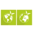 Planet Earth green sign vector image vector image