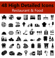 Restaurant and Food Smooth Icons vector image vector image