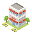 Isometric hotel on a white background vector image