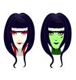 vampire vs zombies vector image