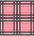 check romantic fashion seamless pattern vector image