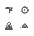 free travel icons vector image
