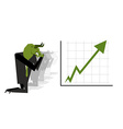 Green Bull prays on rate increase on stock vector image