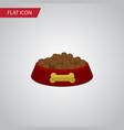isolated hound eating flat icon dog food vector image