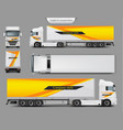 mock up template brand design for truck vector image