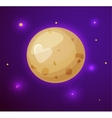 Pluto planet space objects in cartoon style vector image