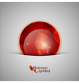 Red Abstract Ball vector image