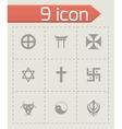 religious symbols icon set vector image