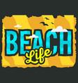 summer beach typographic poster design vector image