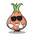 super cool onion character cartoon vector image