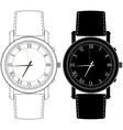 Watch Hand watch icon with roman numeral vector image