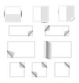 white paper square stickers with shadows vector image
