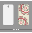 Phone With Ornament Red Flowers vector image