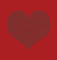 Beautiful pearl red heart vector image vector image