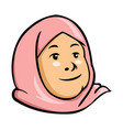 moslem kid girl vector image