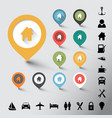 collection of various color pointers vector image