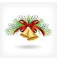 Christmas bells with tree decorations vector image