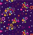 floral celestial sky vector image vector image