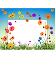 flowers backgound vector image vector image