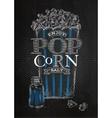 Poster popcorn salt black vector image