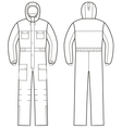 Overalls with hood vector image vector image