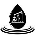 A drop of oil and the oil pump vector image