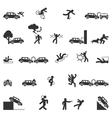 Accident icons vector image