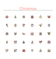 Christmas Colored Line Icons vector image
