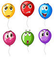colorful balloons with different faces vector image