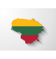 Lithuania map with shadow effect vector image