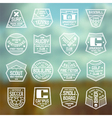 Set of sports badges vector image