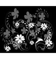 Dark abstract floral background vector image vector image