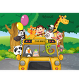 A zoo bus with animals vector image