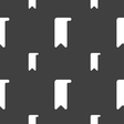 bookmark icon sign Seamless pattern on a gray vector image