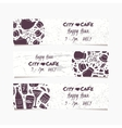 Banners set with hand drawn drinks Round doodle vector image