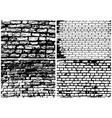 Set of Abstract Grunge Brick Wall vector image vector image