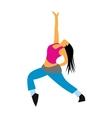 Dance flat icon vector image