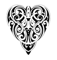Maori style heart shape vector image