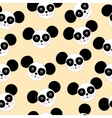 Seamless texture black and white panda logo vector image