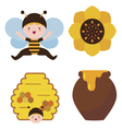 Bee baby and honey vector image
